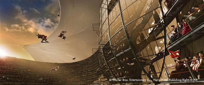 Concept Artwork Quidditch World Cup StadiumBox