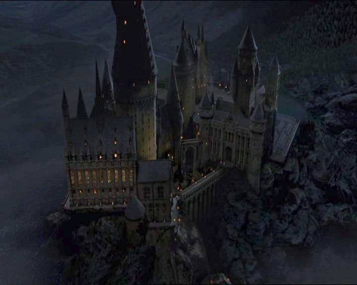 Image result for hogwarts night