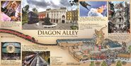 Universal Diagon Alley Map