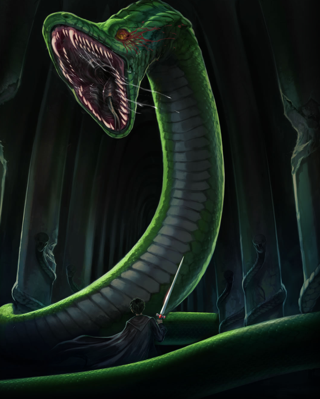 Basilisk snake harry potter