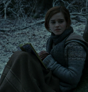 Hermione with the book
