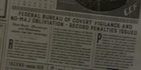 Federal Bureau of Covert Vigilance and No-Maj Obliviation