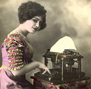 File:Woman-typing-on-typewriter.jpg