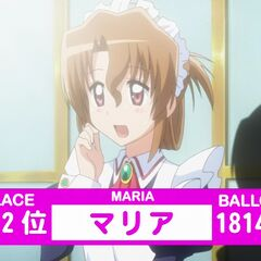 Maria's Result in the 2nd popularity contest shown in the anime