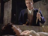 Jonathan Harker (Hammer Horror) and a vampire woman
