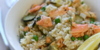 Salmon Risotto with Cucumber