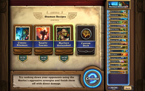 Deck Recipes - Shaman