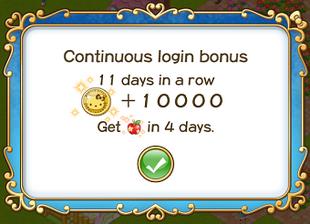 Login bonus 11th day