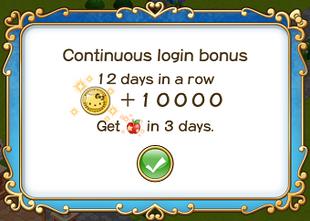 Login bonus day 12