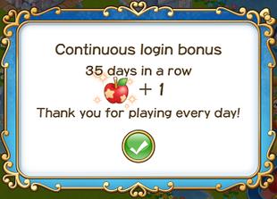 Login bonus day 35