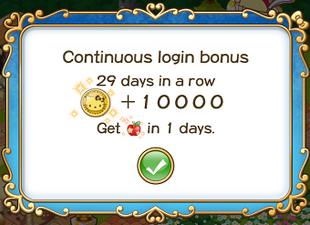 Login bonus day 29