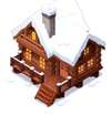 Snowcappedbrownloghouseicon