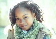 Riele Downs green scarf