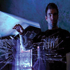 Sylar using his ability to pick up glass