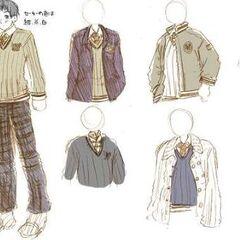 A draft of the boys' winter uniform.