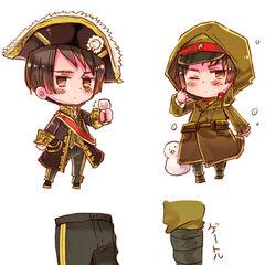 Japan's military uniform as shown on Hidekaz Himaruya's blog.