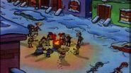 A warm winter fire