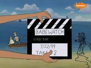 Summer Love. Babewatch clapper-board