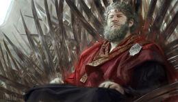 King Viserys I upon the Iron Throne by Karla Ortiz©.jpg