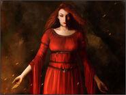 Melisandre of Asshai by Katherine Dinger, Fantasy Flight Games©