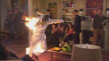 Burning beekeeper