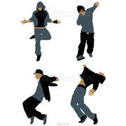 Hip-hop-popping-dance-silhouette