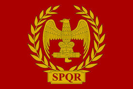 Roman empire flag