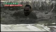 Hitler's third trip to Japan - Hitler in mud pit