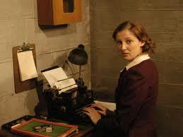File:Traudl on typewriter.jpg