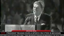 Hitler disrupts President Reagan's speech