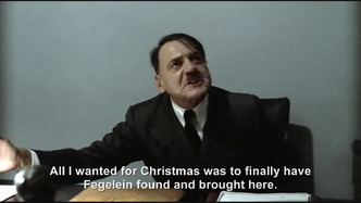 Hitler is asked How was your Christmas