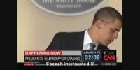 Hitler interrupts President Obama's speeches