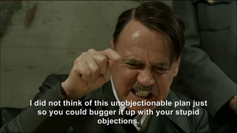 Hitler plans an unobjectionable plan