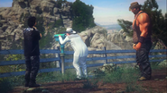 Birdie, Sanchez, and Cornwallis near Mount Rushmore