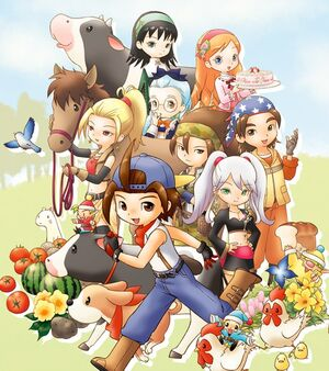 Harvest Moon Hero of Leaf Valley Characters