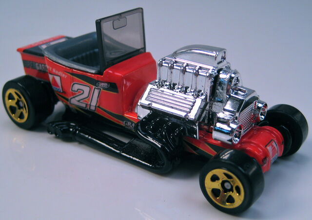 File:T-Bucket NASCAR citgo 5sp wheels BLACK metal Thailand base.JPG
