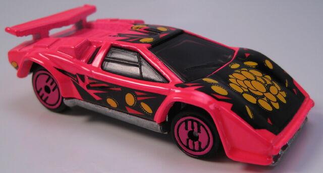 File:Lamborghini Countach revealers neon red unpainted base.JPG