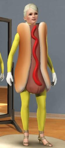 Hot Dog Hat Sims