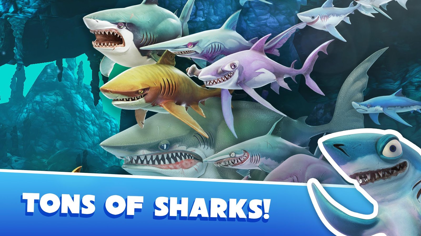 دانلود بازی اندروید Hungry Shark World v2.4.10