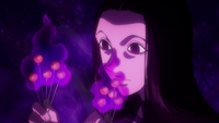 Illumi infusing Nen in his needles