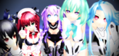Hyperdimension neptunia girls by kairixienzo4ever-d5352qa