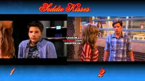Both of Seddie kisses in one video