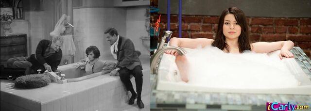 File:Laura Petrie & Carly Shay get thieir toes stuck in a bathtub faucet.JPG