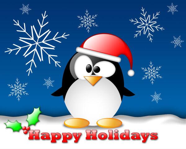 File:Linux tux christmas wallpaper.jpg