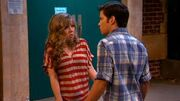 Seddie in an awkward moment after kissing