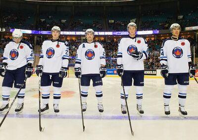 2013 Saskatoon Blades Memorial Cup Commemorative jersey