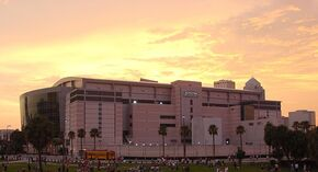 St Pete Times Forum At Sunset