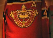 Jersey of the Edmonton Mercurys