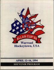 1994 Allan Cup program cover