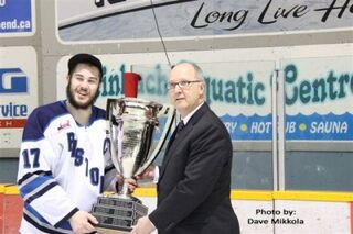 Kyle Rous accepting the Turnbull Cup